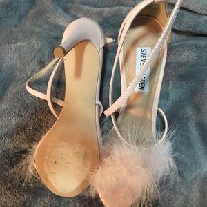 Steve Madden pink heels with fur